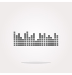 sound round web glossy icon vector image vector image