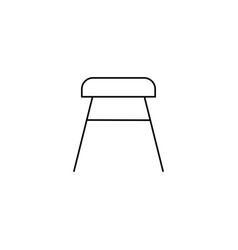 stool icon vector image