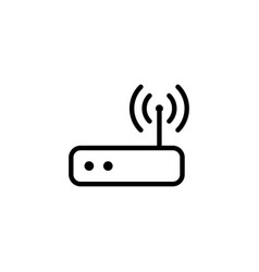 thin line wi-fi router icon vector image