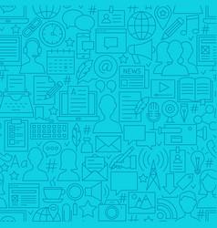 Blogging line seamless pattern vector