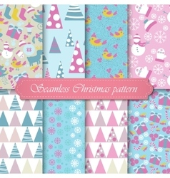 Christmas modern pattern set new year holiday vector