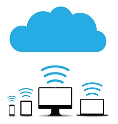 cloud computers vector image vector image