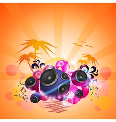 Disco Dance Tropical Music Flyer vector image