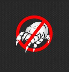 stop dust mites logo vector image