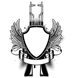 Two Kalashnikov vector image vector image