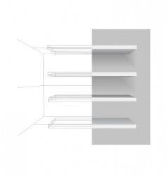 vector shelves vector image