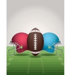 American Football Helmets Background Vertical vector image vector image