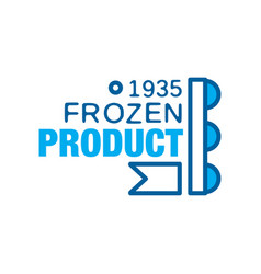 frozen product since 1935 abstract label for vector image vector image