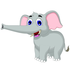 funny elephant cartoon posing for you design vector image vector image