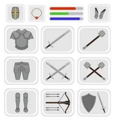 Game inventory Warrior knight set 1 vector image vector image