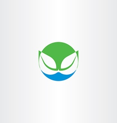 leaves and water bio natural icon symbol vector image vector image