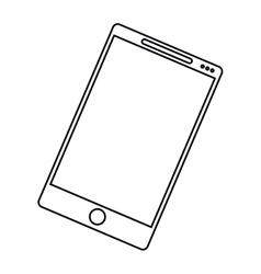 smartphone mobile communication technology outline vector image vector image