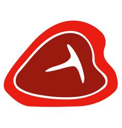 t-bone beef steak flat icon vector image vector image