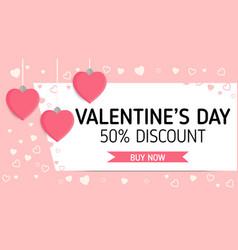 valentineday sale label vector image vector image