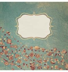 vintage rose card vector image vector image