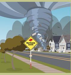 A destructive hurricane vector
