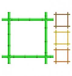 bamboo frames vector image