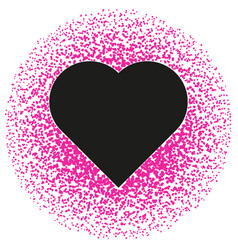 black and pink valentine abstract pattern vector image