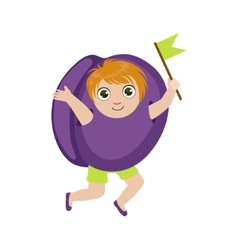 Boy Dressed As Plum vector image