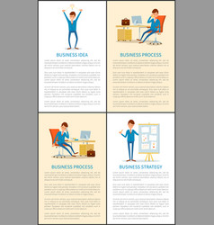 business idea and businessman talking on mobile vector image