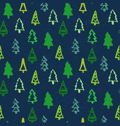 christmas seamless pattern pine tree winter vector image