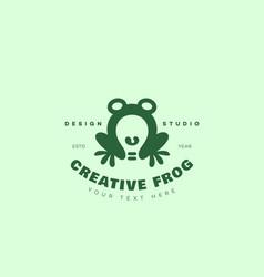 Creative frog logo vector