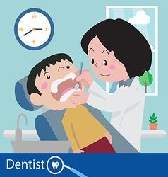 Dentist chair during a dental vector