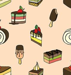desserts and ice cream vector image