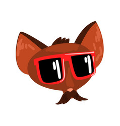 dog animal wearing sunglasses animal portrait vector image