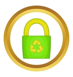 Eco bag icon vector