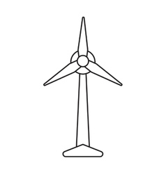 Ecology wind turbine electricity generator vector