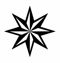 eight pointed star vector image