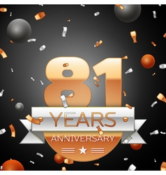 Eighty one years anniversary celebration vector