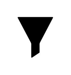 filter icon funnel symbol vector image