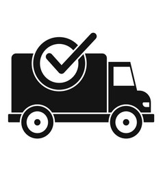Finished delivery icon simple style vector