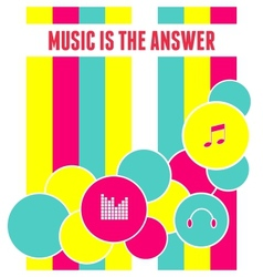 Flat Design Abstract Music Background vector image