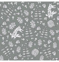 Floral background floral design leaf pattern vector image
