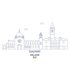 galway city skyline vector image
