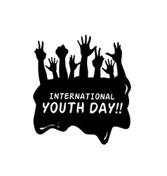 hand youth day vector image