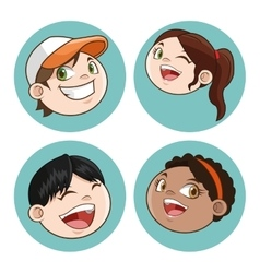 Happy cartoon Kid colorful design vector image
