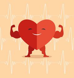 Happy healthy heart vector