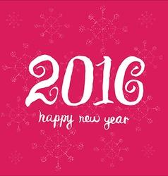Happy new year 2016 Universal Hand drawn vector image