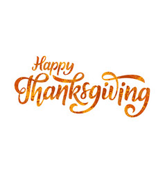 happy thanksgiving greeting hand drawn lettering vector image
