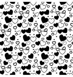 heart background - seamless heart shape texture vector image