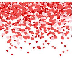 heart confetti valentines petals falling vector image