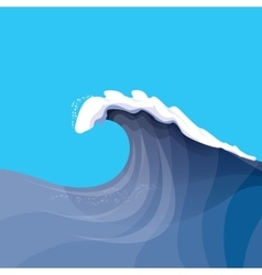 Huge ocean wave for surfing vector