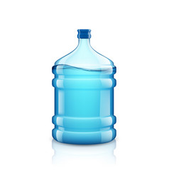 icon big bottle with clean water plastic vector image