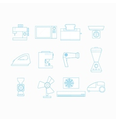 Icons for household appliances vector