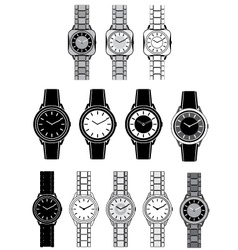 Image of a female watch vector image