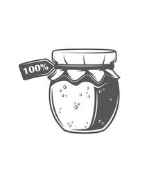 jar honey isolated on white background vector image